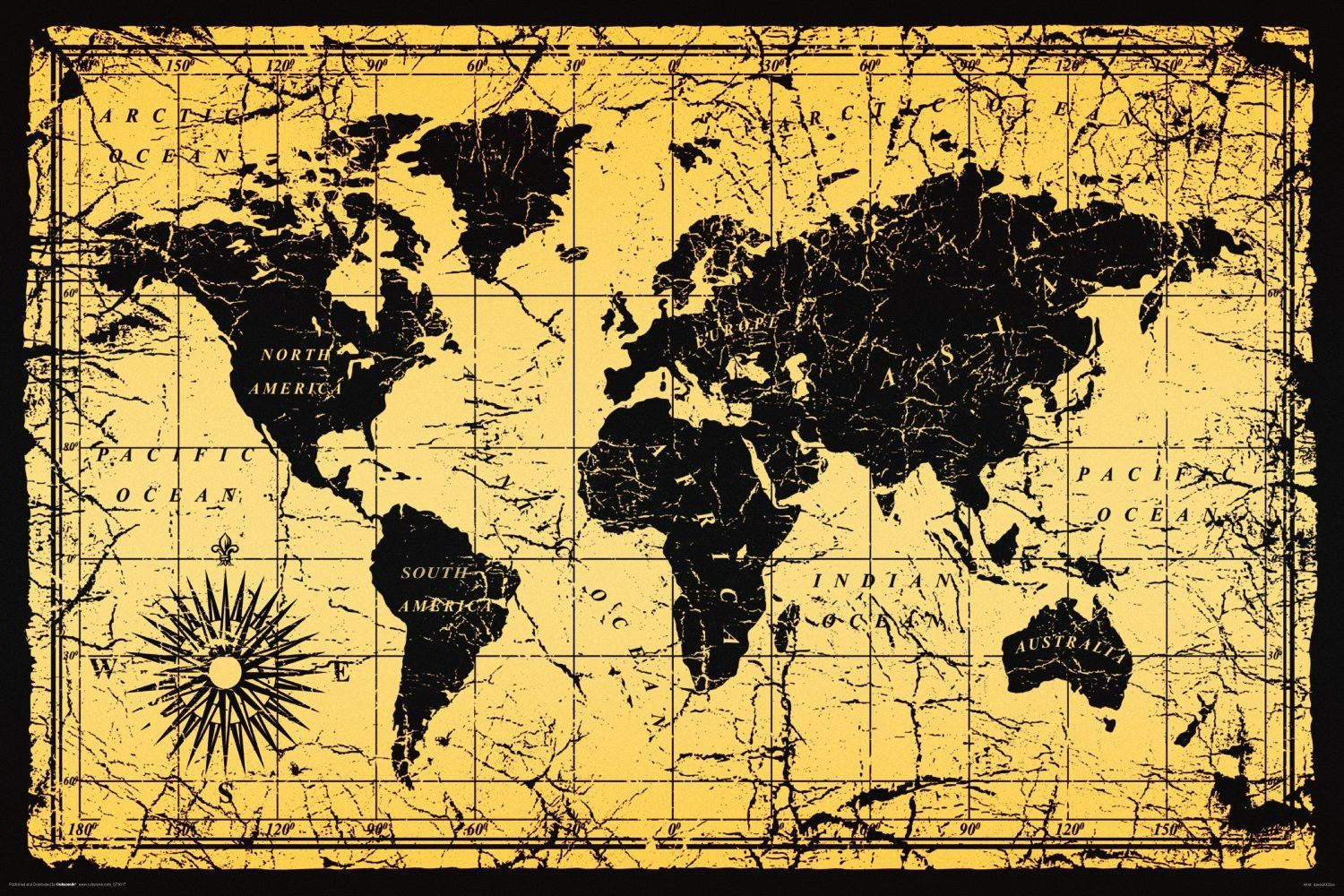 925 vintage style world map poster 24 x 36 antique geography 925 vintage style world map poster 24 x 36 antique geography old 5617 ebay collectibles gumiabroncs Gallery