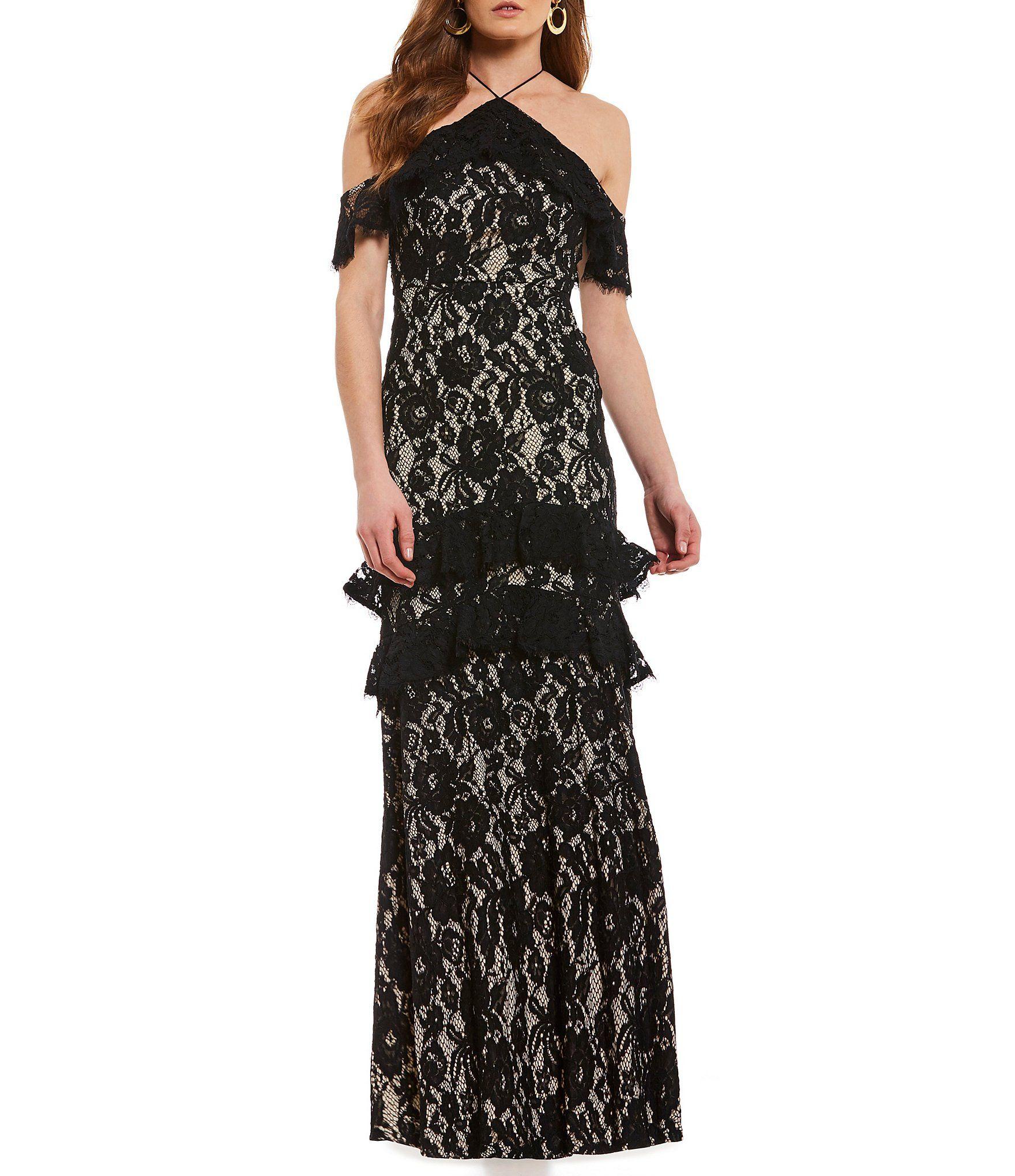 3c6ab9782992 Shop for Aidan Aidan Mattox Lace Halter Cold Shoulder Mermaid Gown at  Dillards.com. Visit Dillards.com to find clothing