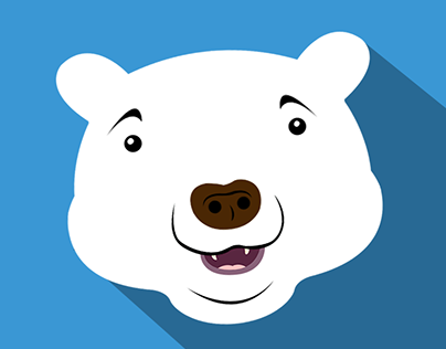Check Out New Work On My Behance Portfolio Polar Bear Logo Polargram Logo Polar Bear Face Logo App Icon Polar Bear Face Polar Bear Logo Bear Face