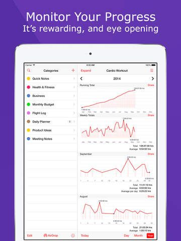 "iPad App Lumen Trails Daily Planner - Omni Tracker for Exercise, Food, Time and Money |  | *** | 4  | $21.99 NOW FREE | • Apple ""New Year, New You"" Favorite • Apple App Store Staff FavoriteLumen Trails is an omni tracker. It lets you"