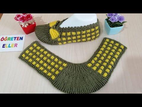 Dikişsiz fiyonklu patik/iki şişle patik modeli/pencere desenli patik yapımı - YouTube #bonnets