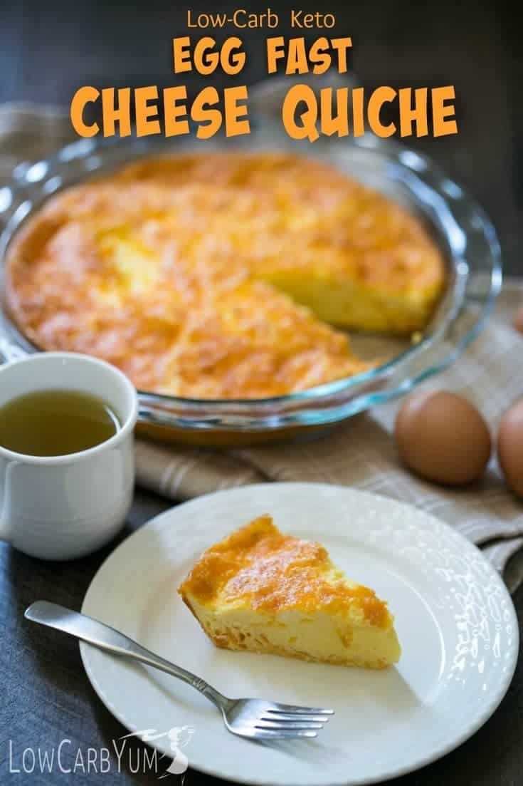 Crustless Keto Quiche Recipe with Cheese | Low Carb Yum