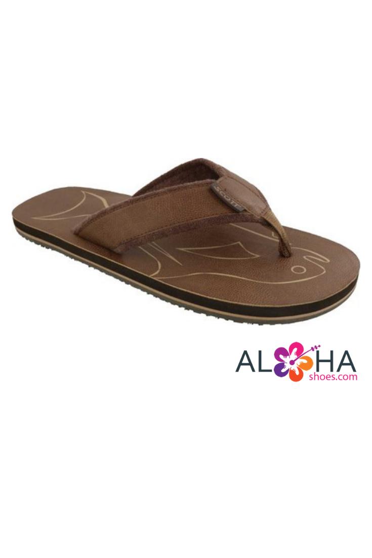 1203d2fa91ba Scott Hawaii Men s Papio Terrycloth Vegan Leather Sandals