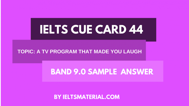 Ielts Cue Card 44 Cue Cards Ielts Tv Programmes