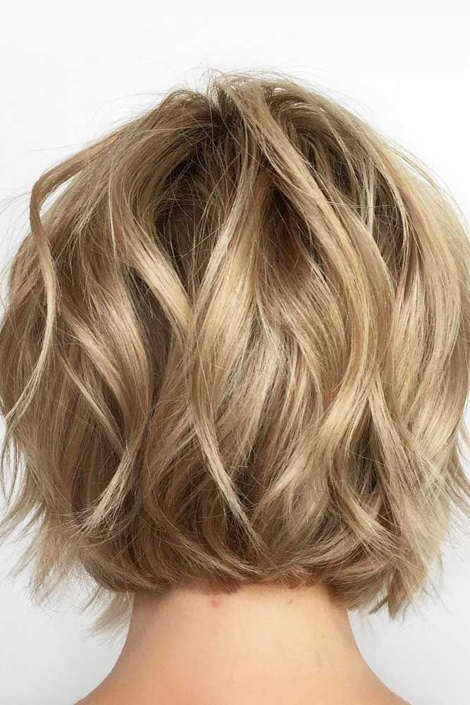 30 Easy And Cute Styling Ideas To Get Beach Waves For Short Hair Wavy Bob Haircuts Short Hair Waves Short Wavy Hair