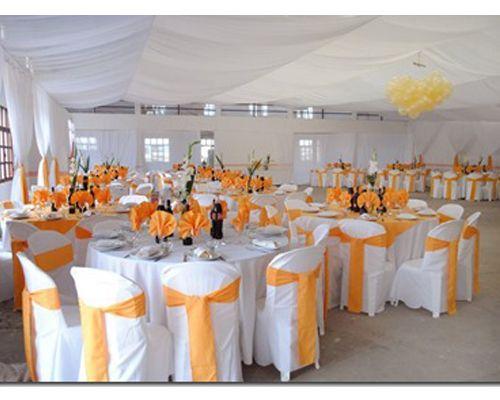 Decoracion de boda naranja y blanco buscar con google for Decoracion naranja