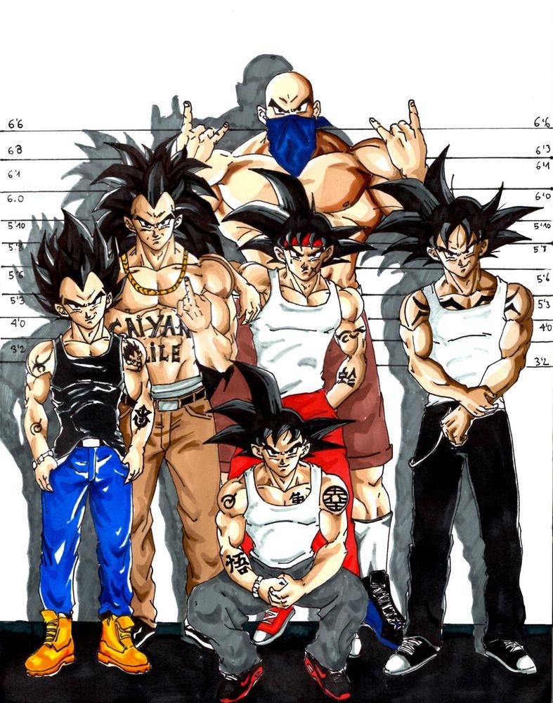 Saiyan Thugs Art Print By Unic Art X Small Dragon Ball Super Artwork Anime Dragon Ball Super Dragon Ball Super Goku