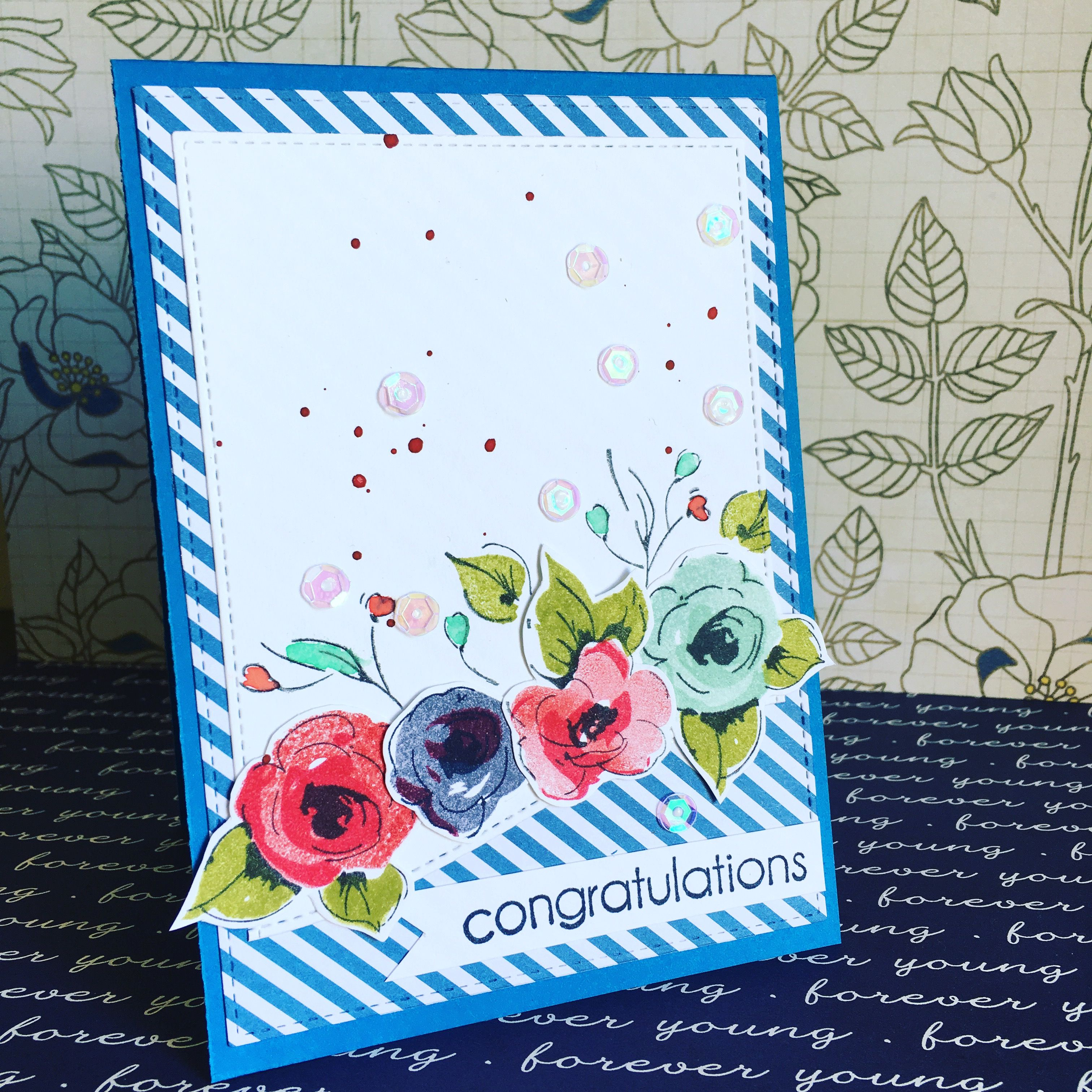 Altenew Painted Flowers Congratulations Card Wedding Card