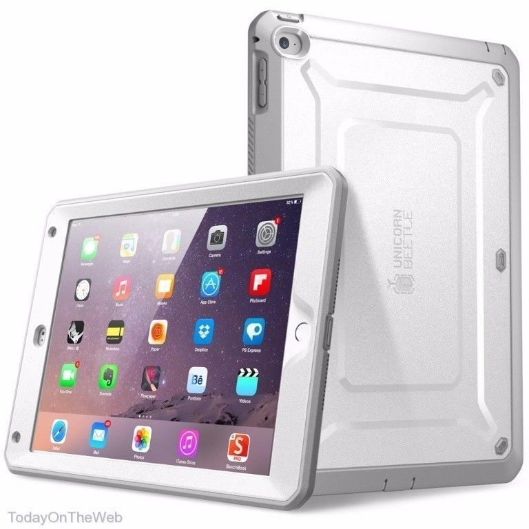 Folio Skin Cover Case and Screen Protector for Apple iPad Air 2nd Generation