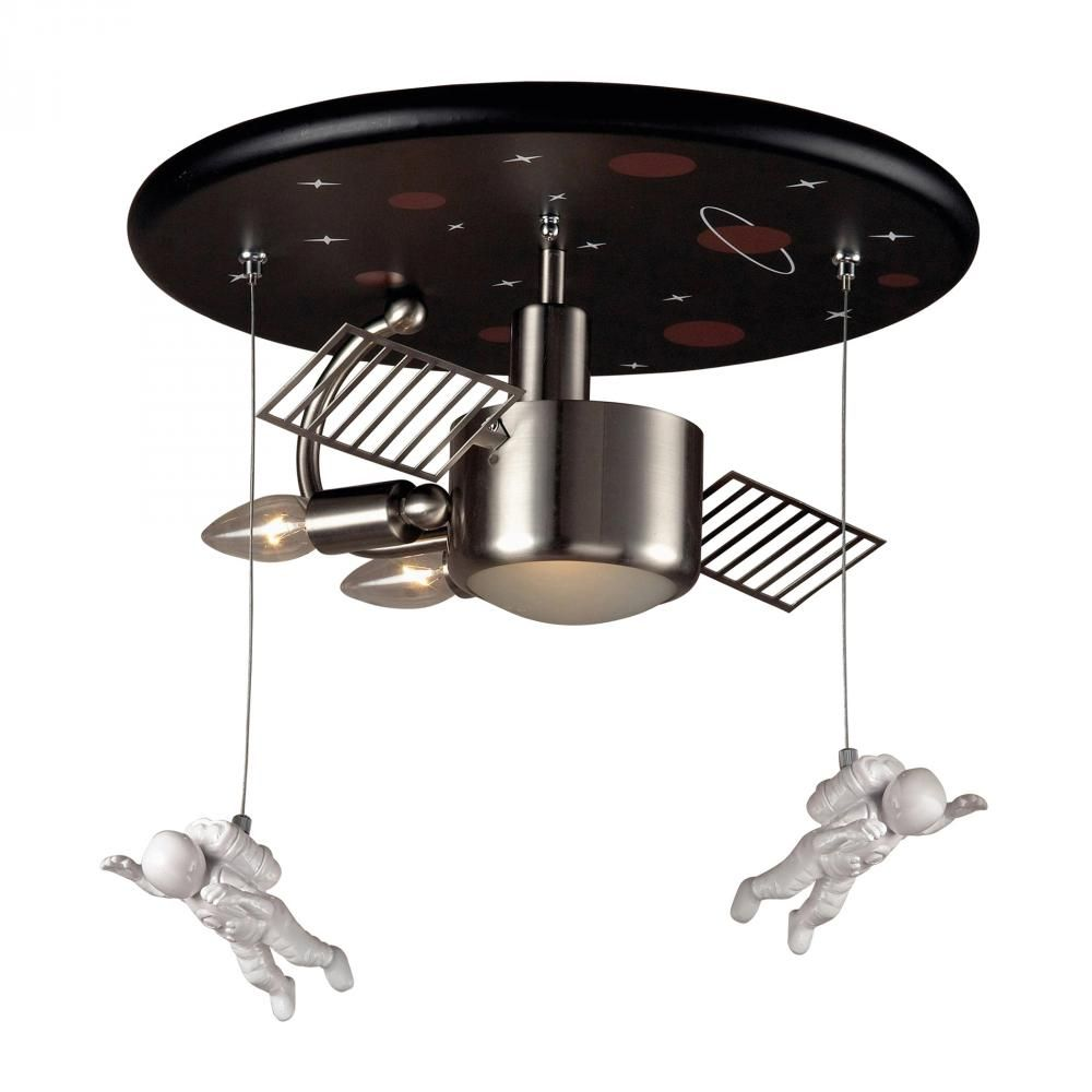 3 light astronaut flush mount in satin nickel williams lighting ceiling arubaitofo Choice Image