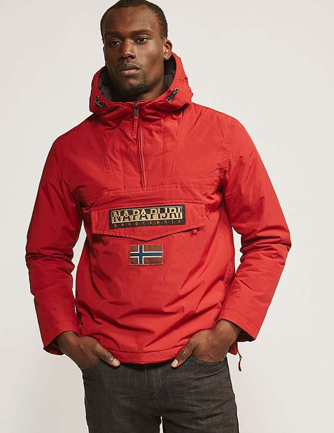 1fa1e80f0 red Napapijri Rainforest Hooded Jacket | Biloba | Hooded jacket ...