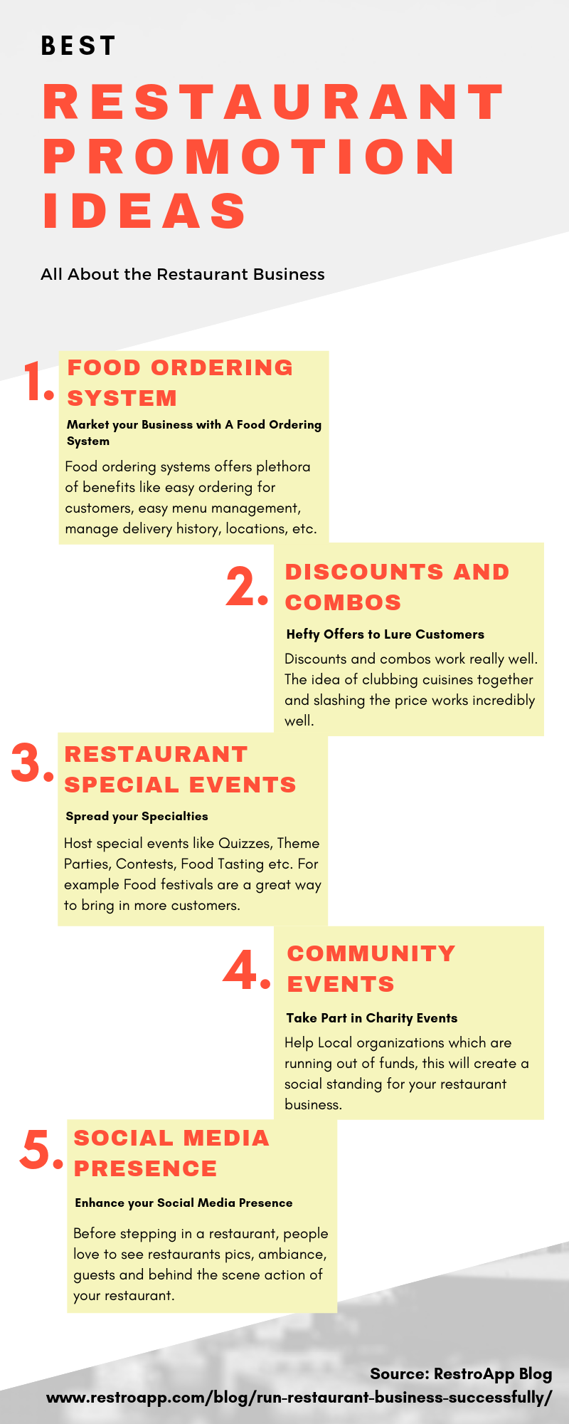 Amazing Restaurant Promotion Ideas   RestroApp   Restaurant ...