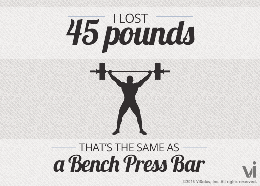I Lost 45 Pounds That Is The Same As A Bench Press Bar