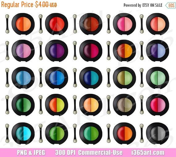 50 OFF SALE Eyeshadow Clipart Eye Shadow Clip Art Makeup Cosmetics
