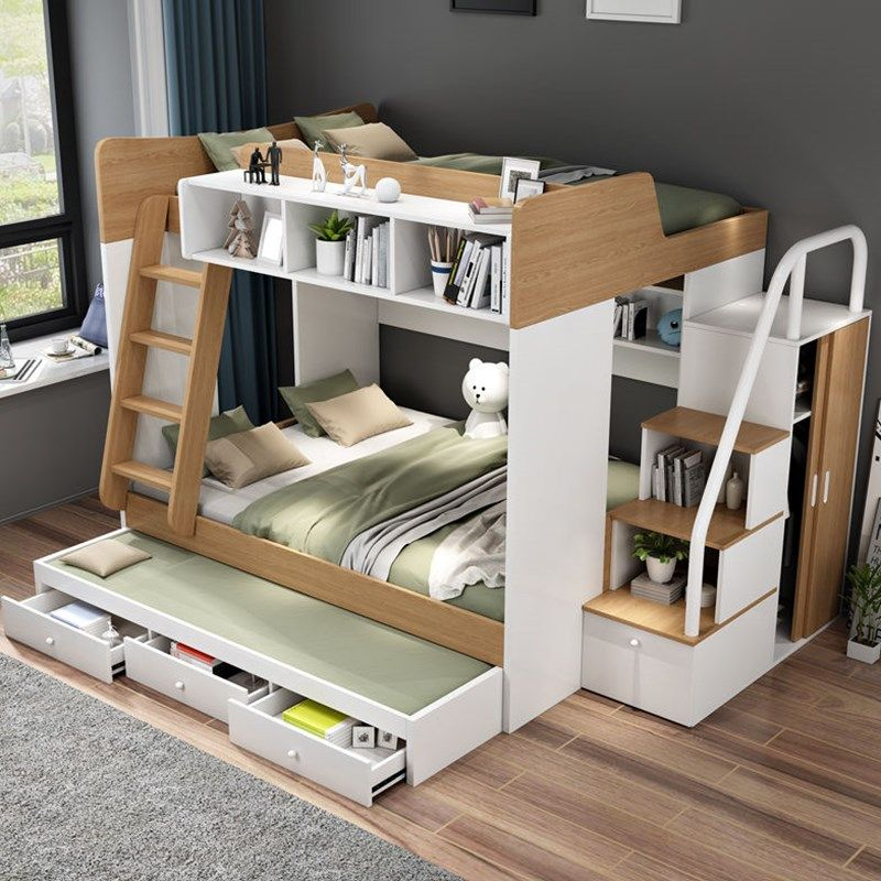 Buy Children's bed high and low bed bunk bed small family multi