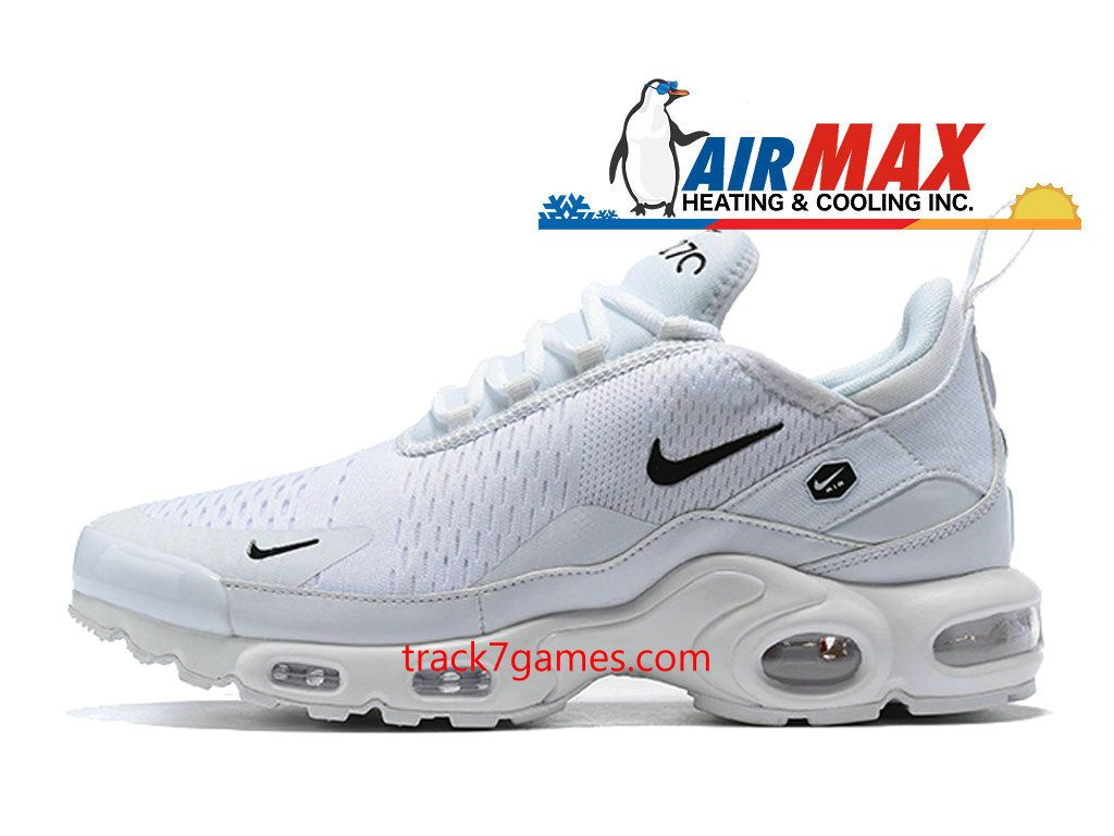 basket nike air max tn chaussure de running pour homme blanc noir