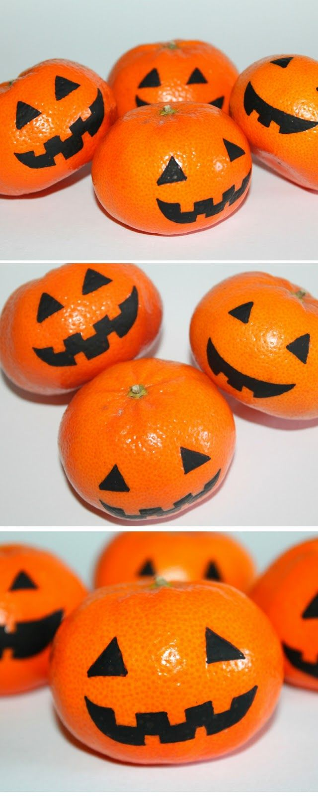 Für die Halloweenparty: DIY gruselige Halloween Mandarinen ...