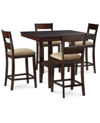 Branton 5Pccounterheight Set 4 Chairs & Tablenew Furniture Endearing Pub Height Dining Room Sets Decorating Inspiration