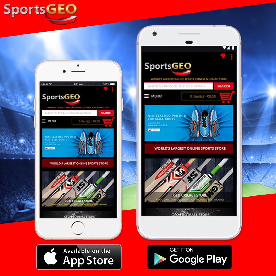 Download Sportsgeo App From Apple App Store Or Google Play Store And Enjoy Shopping On The Go Online Sports Store Free Online Shopping Online Mobile Shopping