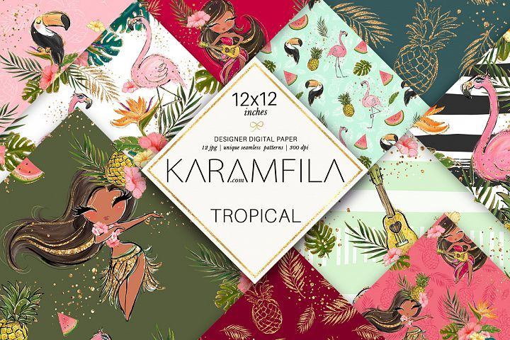 Cute Tropical Patterns #tropicalpattern