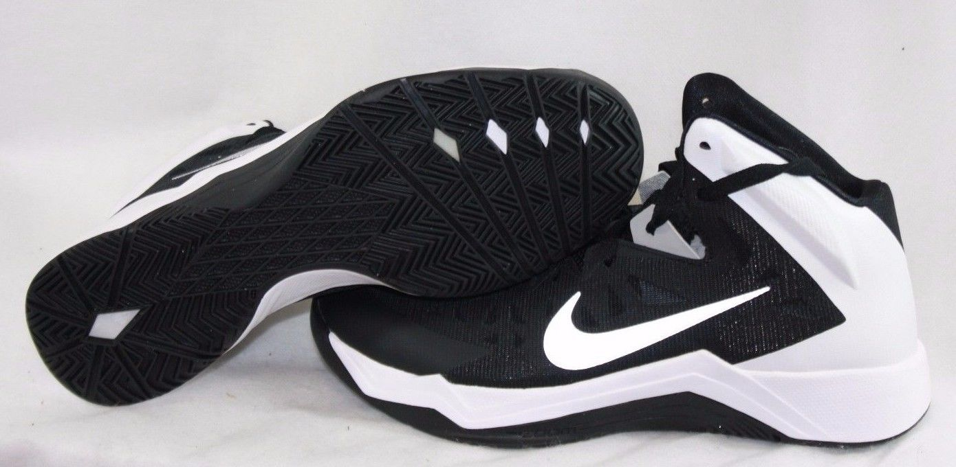 huge selection of 40567 def64 NEW Womens NIKE Zoom Hyperquickness TB 599515 001 Black White Sneakers Shoes
