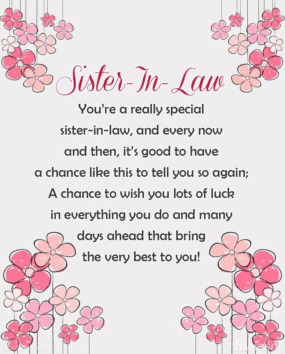Pin By Kimberly Preston On Sayings Quotes Sister In Law Birthday Sister In Law Quotes Law Quotes