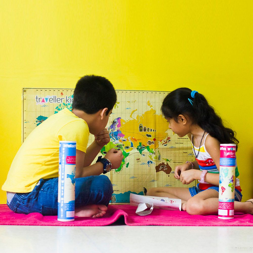 Traveller Kids Interactive World Map Kit - Traveller Kids