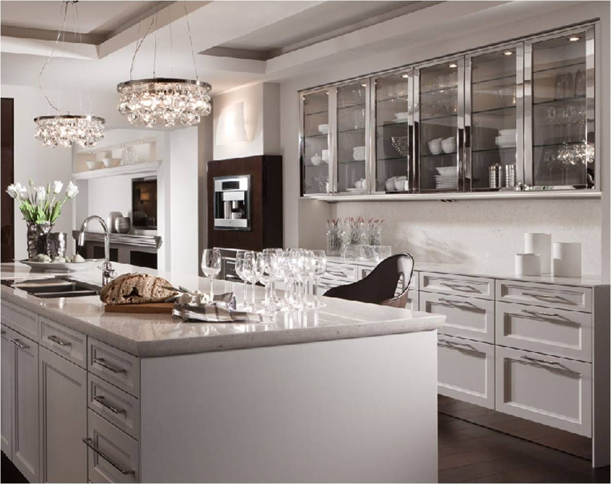 Floating… Eclectic kitchen design