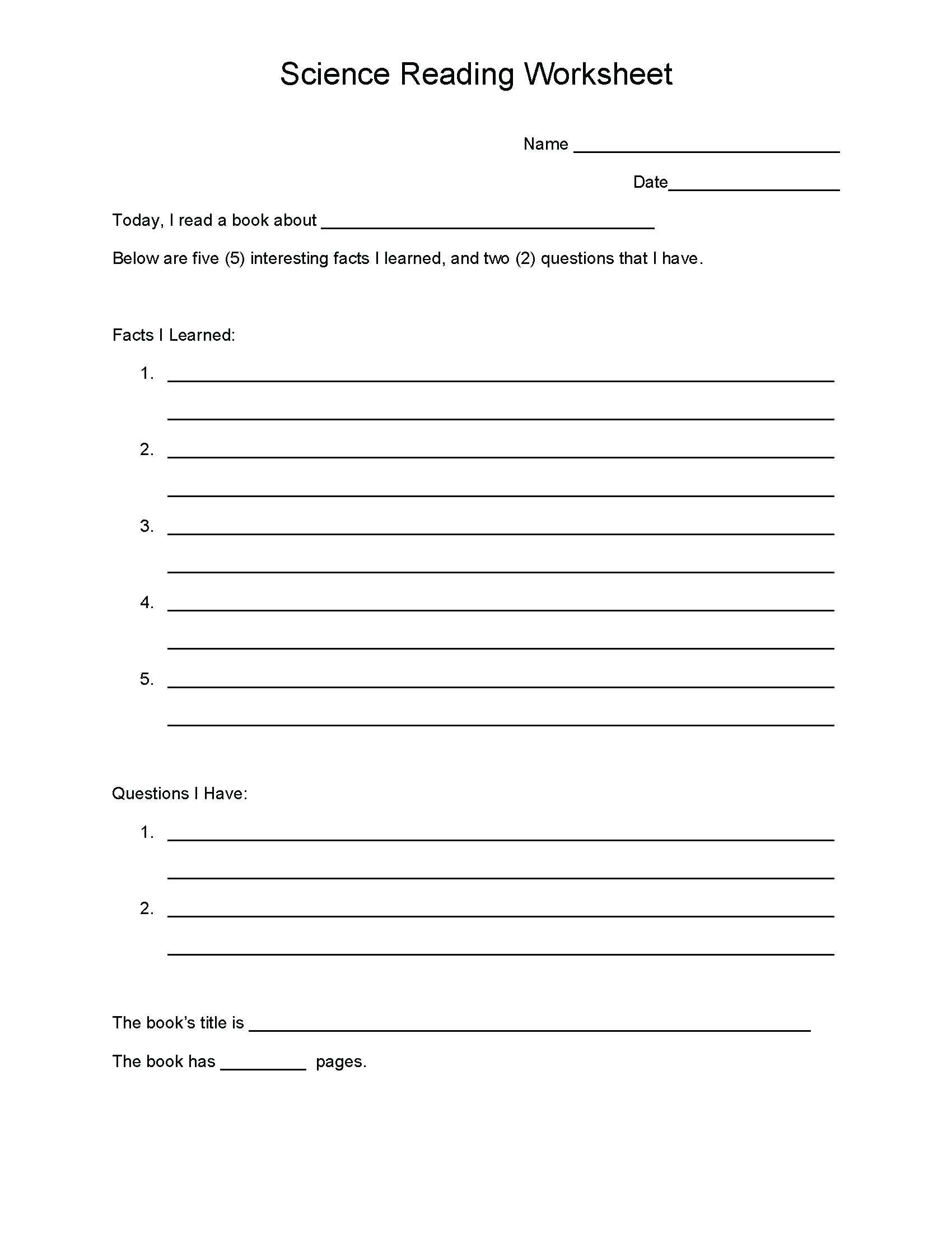 5 Reading Comprehension Worksheets Fifth Grade 5 Ela