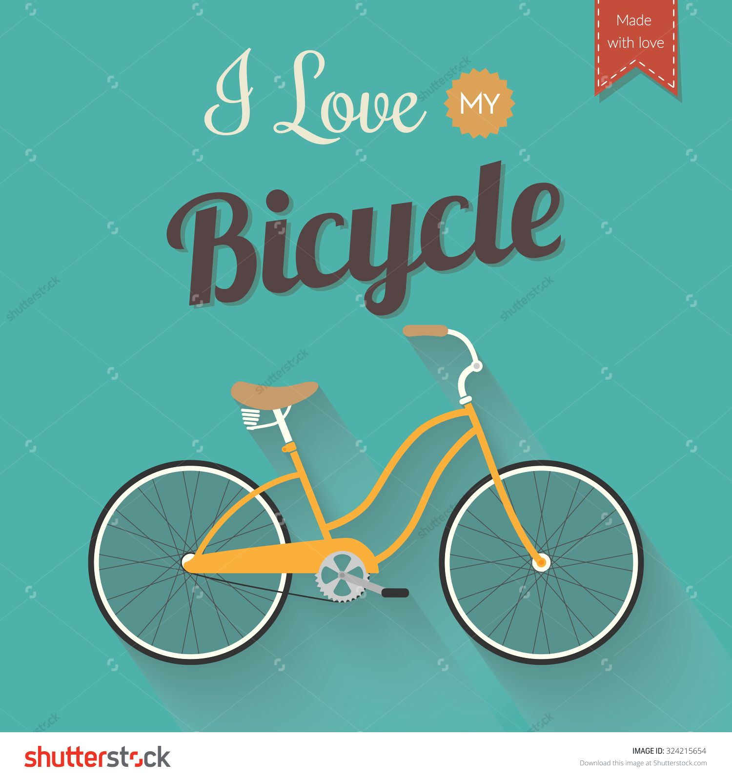 Retro Bicycle Poster Design Template Flat Design Vector