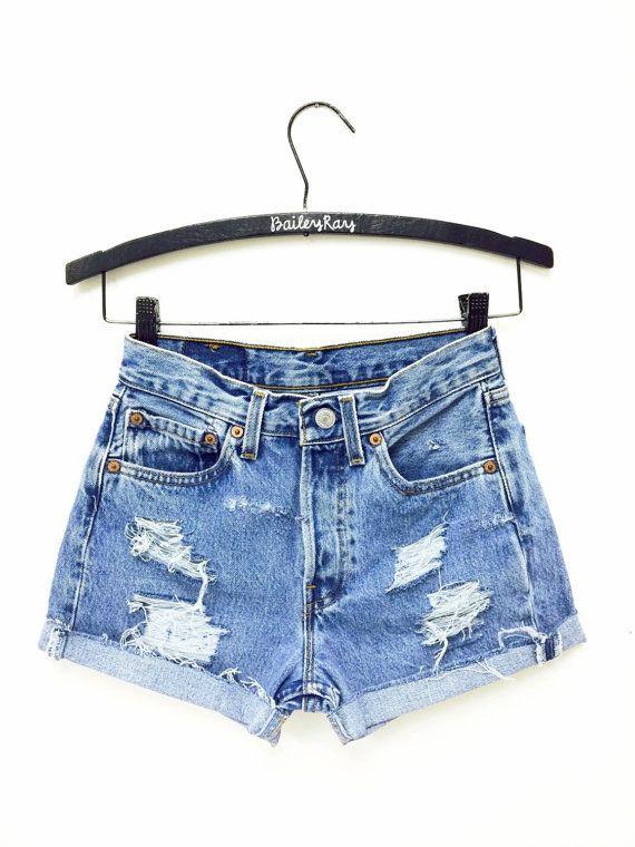 All Sizes Women Levi High Waisted Denim Shorts Vinatge Small Medium La Vintage High Waisted Shorts High Waisted Shorts Denim Distressed High Waisted Shorts
