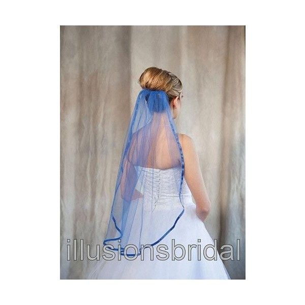 Royal Blue Wedding Veil Illusions Bridal Veils Liked On Polyvore Featuring Accessories