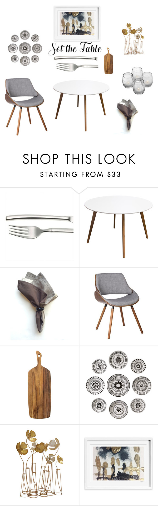 """""""Set the Table - cool grey"""" by shistyle ❤ liked on Polyvore featuring interior, interiors, interior design, home, home decor, interior decorating, Diamond Sofa, WALL and setthetable"""
