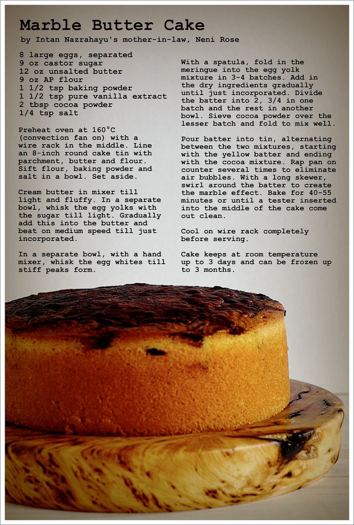 Marble Butter Cake Life Is Great Cake Recipes Marble Cake Recipes Baking Recipes