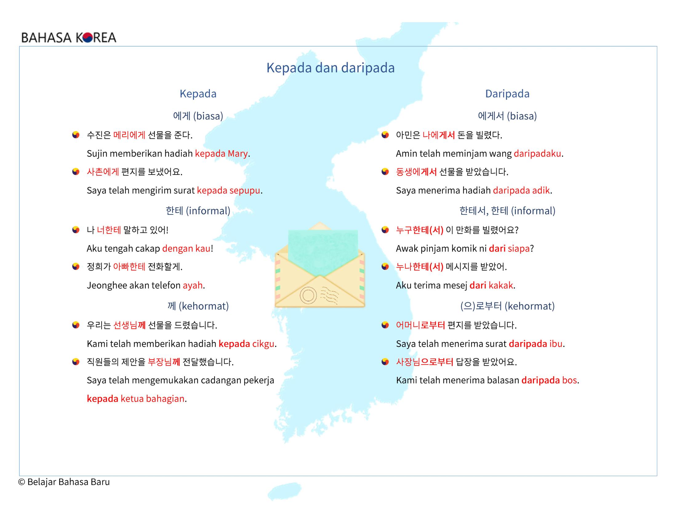 Bahasa Korea Kepada Dan Daripada Korea Korean Map