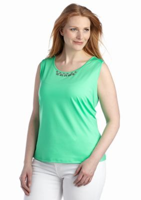 Ruby Rd  Plus Size Embellished Sleeveless Top