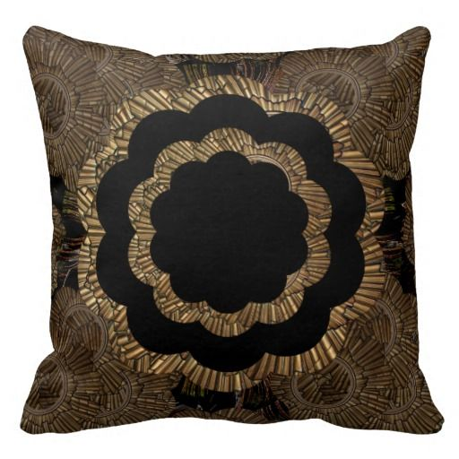 Pillow | Gold Bronze Mandala Pattern | Buddha Mandala ...