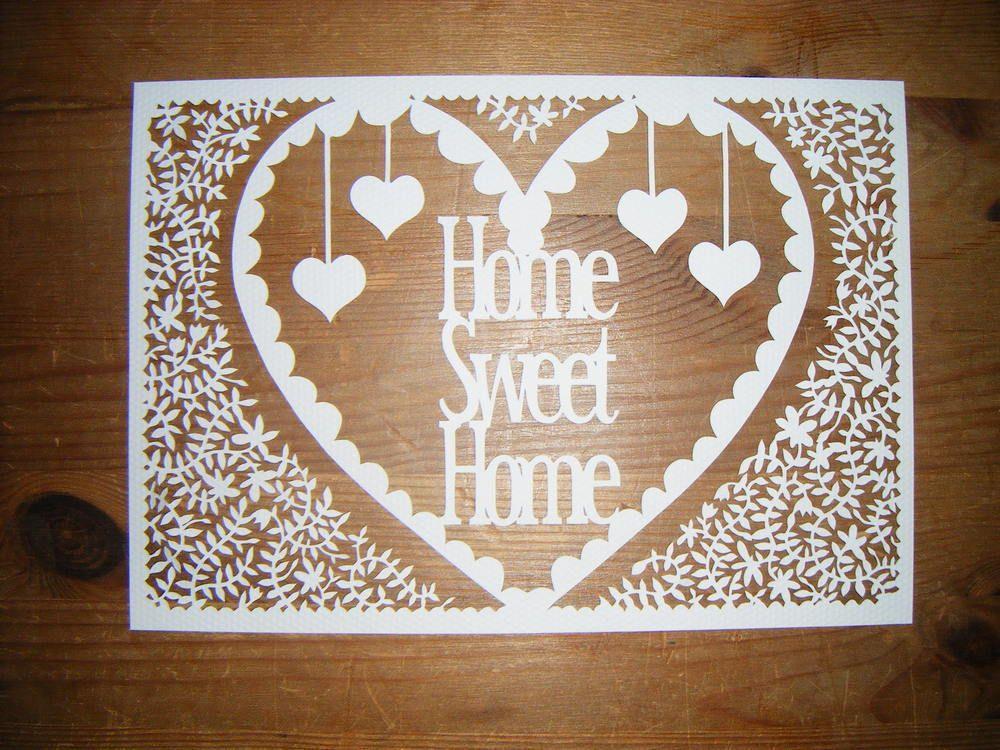 Image of Papercut DIY Design Template - \'Home Sweet Home\' | paper ...