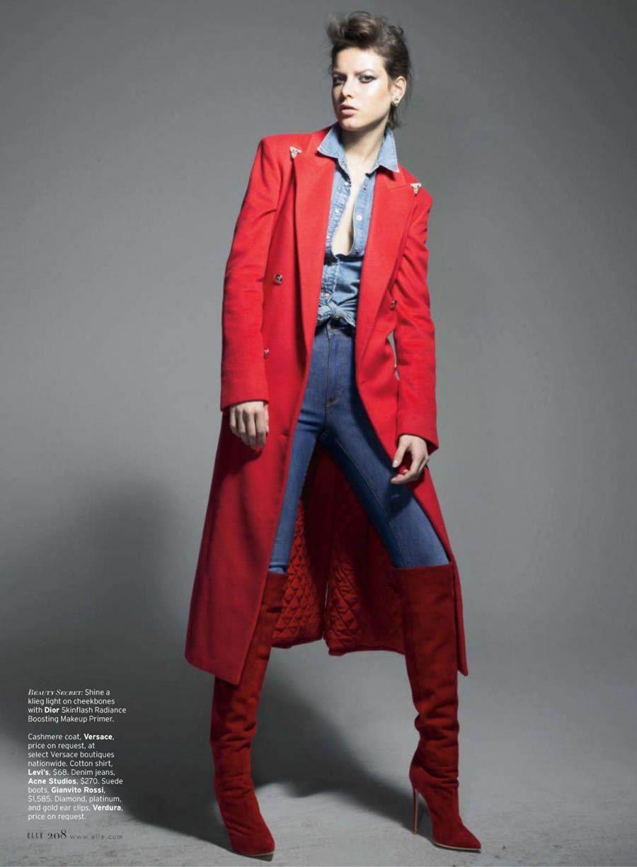 Tati Cotliar by Liz Collins for Elle US August 2013