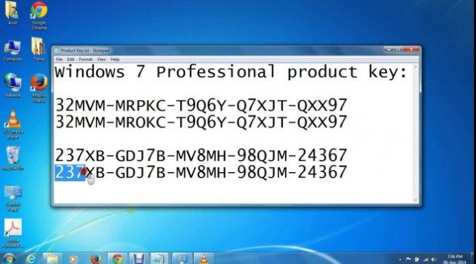 code for windows 7 professional