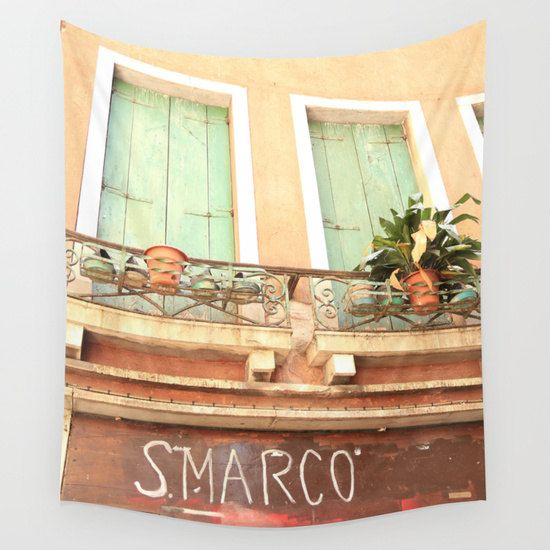 Venice Wall Tapestry Italy Photography by BellaBellaShoppe   Bella ...