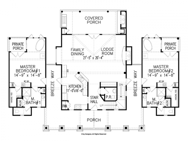 Craftsman Style House Plan 2 Beds 2 Baths 1873 Sq Ft Plan 54 2 Master Suite Small House Plans 2 Mas In 2020 Master Suite Floor Plan Craftsman Floor Plans House Plans