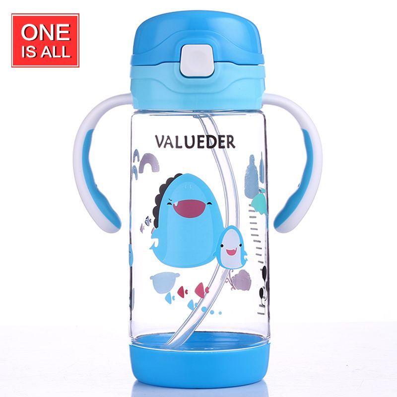ONEISALL GYBL279 380ml Kids Straw Water Bottle Baby With Handel ...
