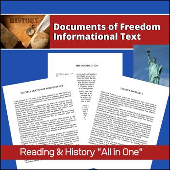 Documents Of Freedom U S History Informational Text Informational Text Informative Text