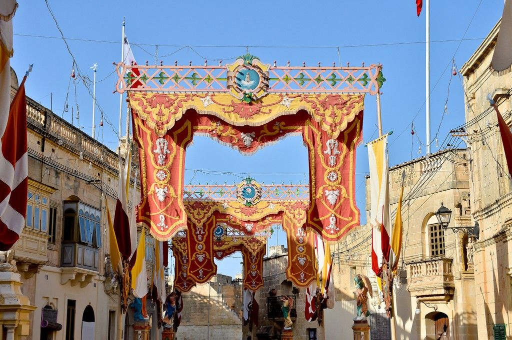 Qrendi street decorations (Photograph by Ian Noel Pace)