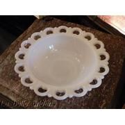 Turns out this isn't Pyrex.  It's a westmoreland   milk glass serving bowl.