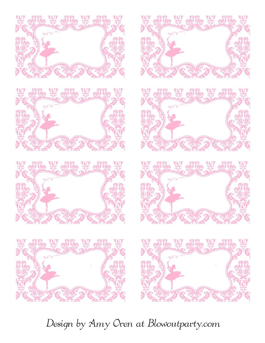 Ballerina party free printable nametags scribd
