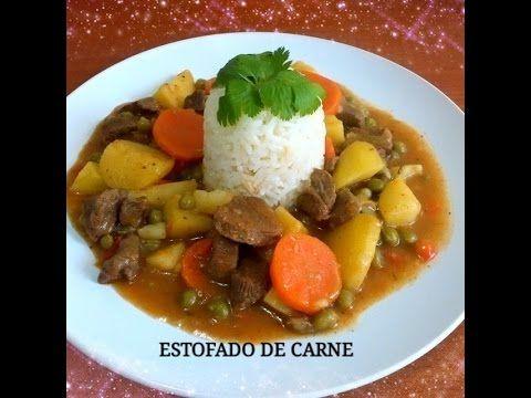 Receta Estofado De Carne Con Arroz Silvana Cocina Y Manualidades Estofado De Carne Receta Estofado Recetas Faciles De Comida