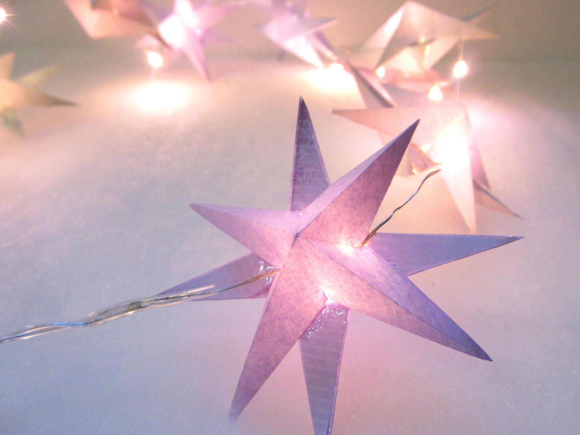 guirlande d étoiles origami guirlande lumineuse 20 leds 10 étoiles