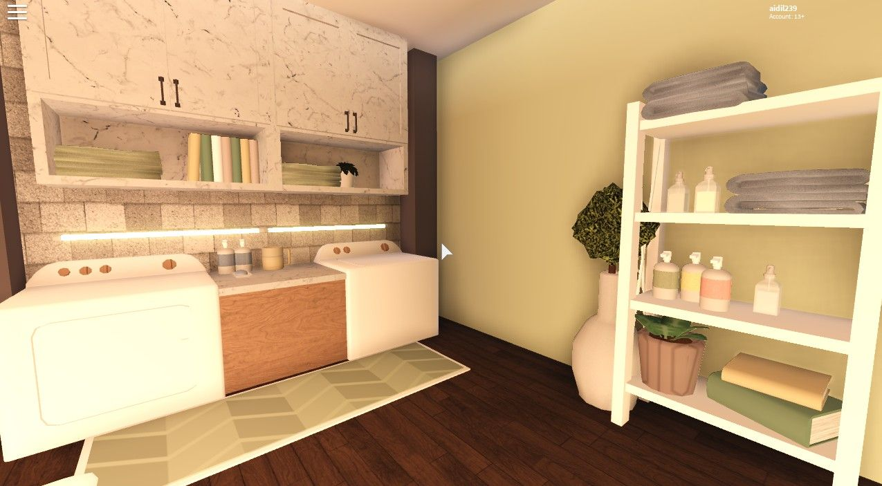 Bloxburg Small Laundry Room Ideas - Viral and Trend